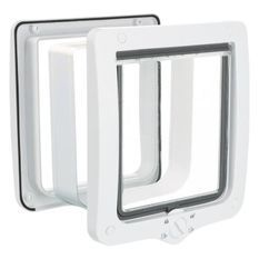 Chatiere - 4 positions - Avec tunnel - XL : 24 × 28 cm - Blanc