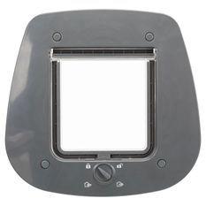 Chatiere - 4 positions - Pour porte verre - 27 × 26 cm - Gris