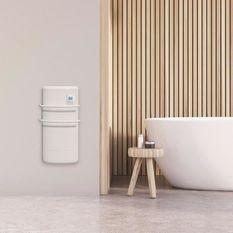 CHAUFELEC RHÉA PR BJK1864FDAJ - Radiateur seche-serviettes 1300W (500W+800W soufflerie) - Coloris Blanc - Thermostat digital - Fabri