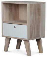 Chevet en bois scandinave 1 tiroir Norvik