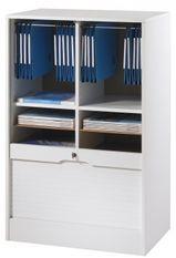 Classeur à rideau large blanc Office 108 cm