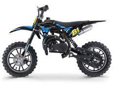 Moto cross enfant 50cc 2 Temps 10/10 bleu Kobra