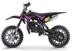 Moto cross enfant 50cc 2 Temps 10/10 rose Kobra