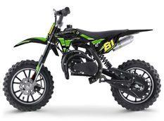 Moto cross enfant 50cc 2 Temps 10/10 vert Kobra