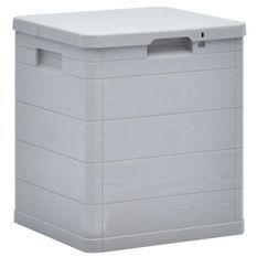Coffre de rangement plastique gris clair Nited 42 cm