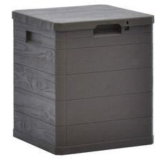 Coffre de rangement plastique marron Nited 42 cm
