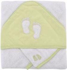 Coffret sortie de bain brodé gant vert anis La toilette