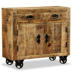 Commode bas 2 tiroirs bois de manguier Induka