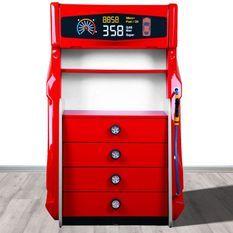 Commode enfant 4 tiroirs rouge Pompe à essence