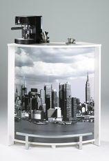 Comptoir de bar blanc et imprimé Manhattan Snack 96