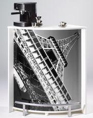 Comptoir de bar blanc et imprimé Tour Eiffel Snack 96