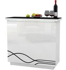 Comptoir de bar bois laqué blanc Cormier L 119 cm