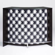 Comptoir de bar noir et imprimé capiton noir Snack 134