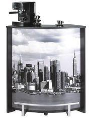 Comptoir de bar noir et imprimé Manhattan Snack 96