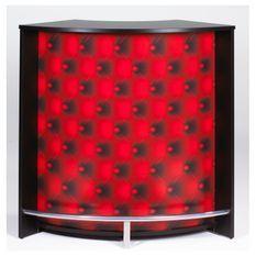 Comptoir de bar noir imprimé capiton rouge Snack 106