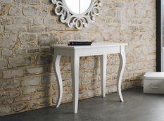 Console extensible bois blanc 8 personnes 48 à 204 cm Landie