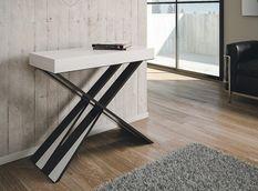 Console extensible bois de frêne blanc Diair 196 cm