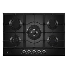 CONTINENTAL EDISON CECTG5GFVB - Table de cuisson gaz-5 foyers-L 75 cm-Noir