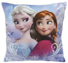 Coussin carré brodé Reine des neiges Disney