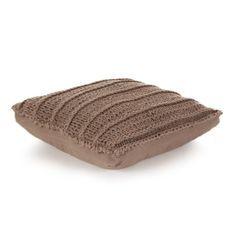 Coussin de plancher carré Coton tricoté 60 x 60 cm Marron