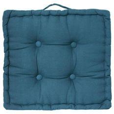Coussin de sol Dorian - 40 x 40 cm - Bleu canard
