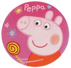 Coussin rond brodé Peppa Pig Disney