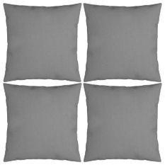 Coussins décoratifs 4 pcs Gris 40x40 cm Tissu