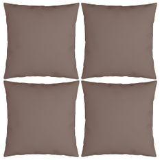 Coussins décoratifs 4 pcs Taupe 40x40 cm Tissu