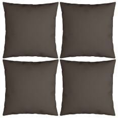 Coussins décoratifs 4 pcs Taupe 50x50 cm Tissu
