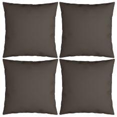 Coussins décoratifs 4 pcs Taupe 60x60 cm Tissu