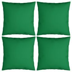 Coussins décoratifs 4 pcs Vert 60x60 cm Tissu