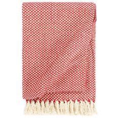 Couverture en coton 220 x 250 cm Rouge