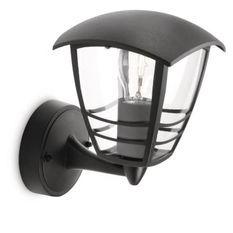 CREEK-Applique d'extérieur Montante Métal H20cm Noir Philips