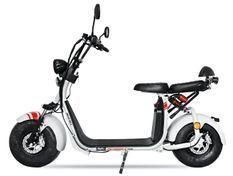 Cruzer V2 1500W lithium blanc 8 pouces scooter électrique homologué