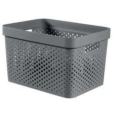 CURVER Bac Infinity 17L Dots - Plastique recyclé - Gris