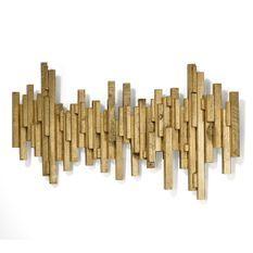 Décor mural bois doré Aynah L 160 x H 80 x P 8 cm