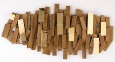 Décor mural métal doré Cassia L 100 x H 50 x P 5 cm