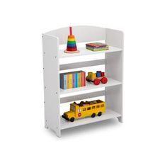 DELTAKIDS - Etagere Enfant Rangement Jouets/Livres en Bois - Blanc
