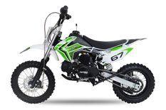 Moto cross 110cc Storm e-start automatique 14/12 vert