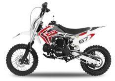 Dirt Bike 110cc Skin rouge 12/10 e-start automatique 4 temps
