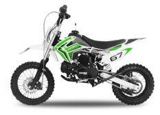 Dirt Bike 110cc Skin verte 12/10 e-start automatique 4 temps