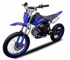 Dirt Bike 125cc MXD 14/12 boite mécanique 4 temps Kick starter bleu