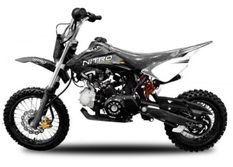 Dirt Bike 125cc MXD 14/12 boite mécanique 4 temps Kick starter noir