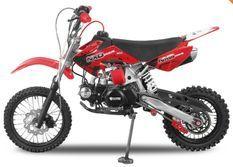Dirt Bike 125cc MXD 14/12 boite mécanique 4 temps Kick starter rouge