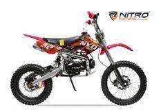 Dirt bike 125cc NXV 17/14 boite mécanique 4 temps rouge