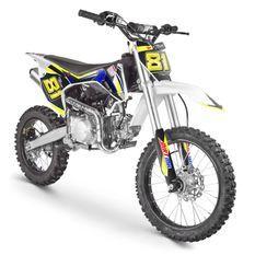 Moto cross MX 140cc bleu 17/14 pouces