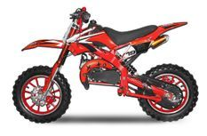 Dirt bike 49cc Spider midi 10/10 rouge