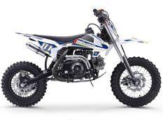 Dirt bike enfant 70cc automatique bleu et blanc MX70 12/10
