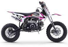 Dirt bike enfant 70cc automatique rose et blanc MX70 12/10