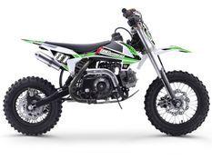 Dirt bike enfant 70cc automatique vert et blanc MX70 12/10